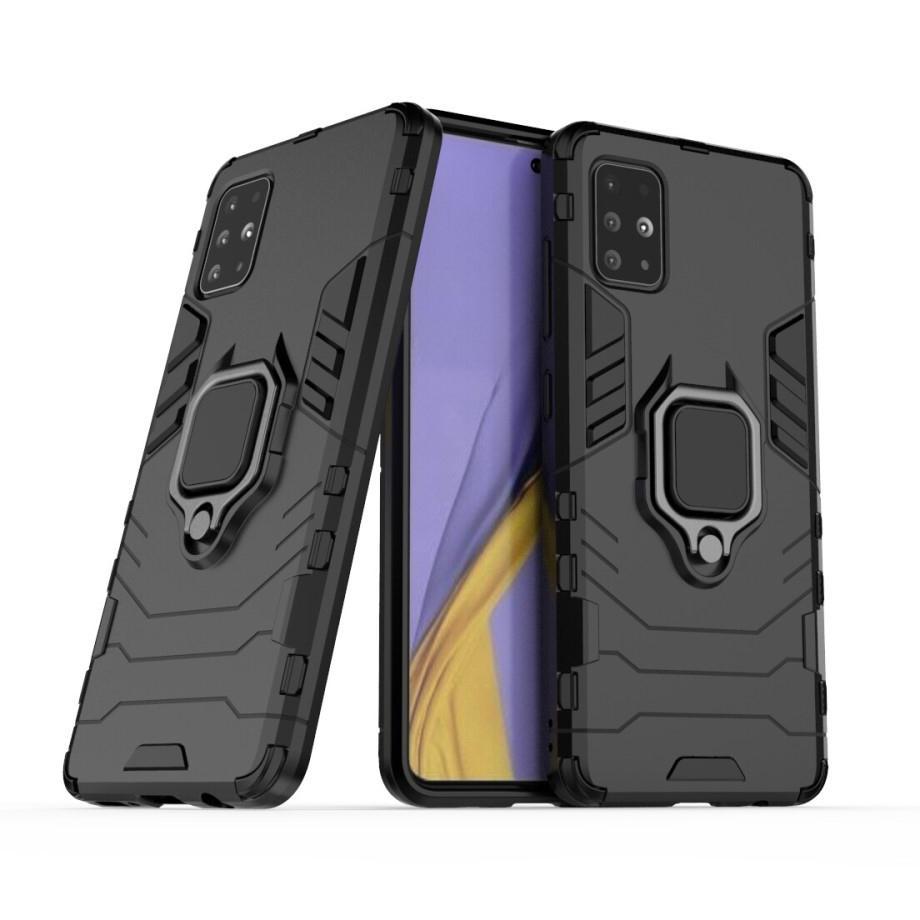 Hybridskal Tech Ring Samsung Galaxy A51 svart