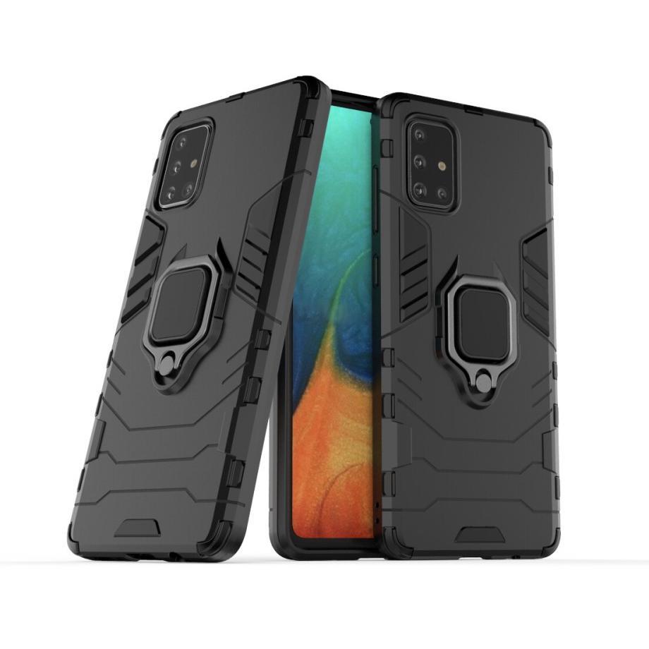 Hybridskal Tech Ring Samsung Galaxy A71 svart