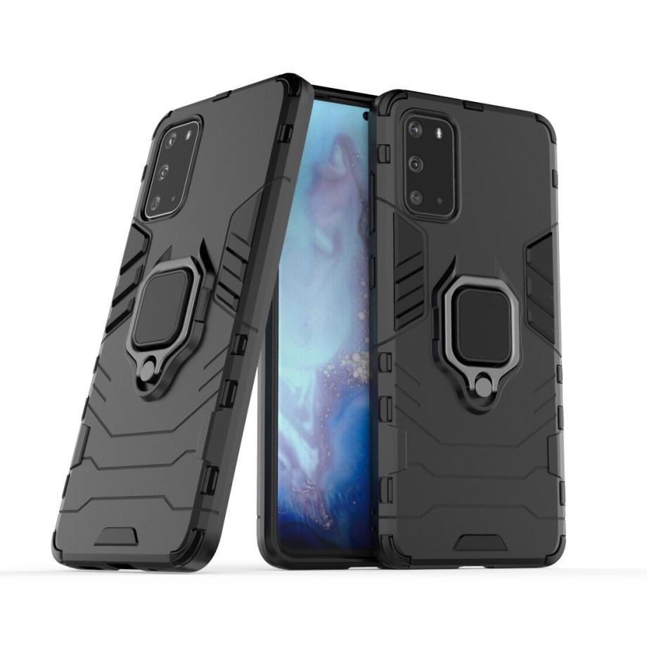 Hybridskal Tech Ring Samsung Galaxy S20 svart