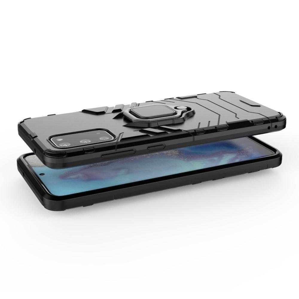 Hybridskal Tech Ring Samsung Galaxy S20 Ultra svart