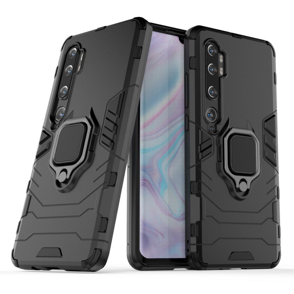 Hybridskal Tech Ring Xiaomi Mi Note 10/10 Pro svart