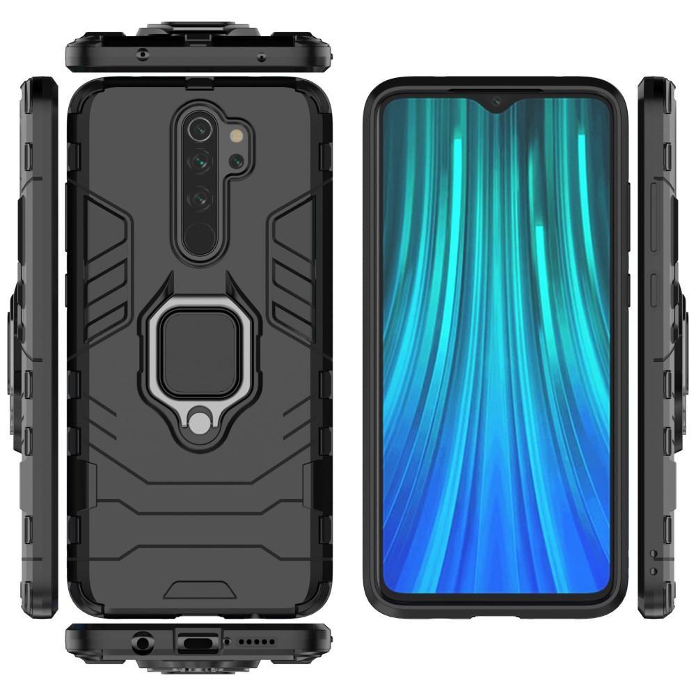 Hybridskal Tech Ring Xiaomi Redmi Note 8 Pro svart