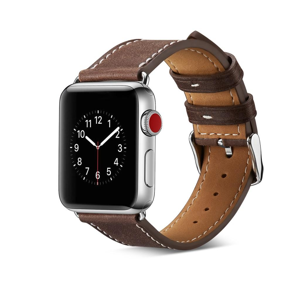 Läderarmband Apple Watch 38/40 mm brun