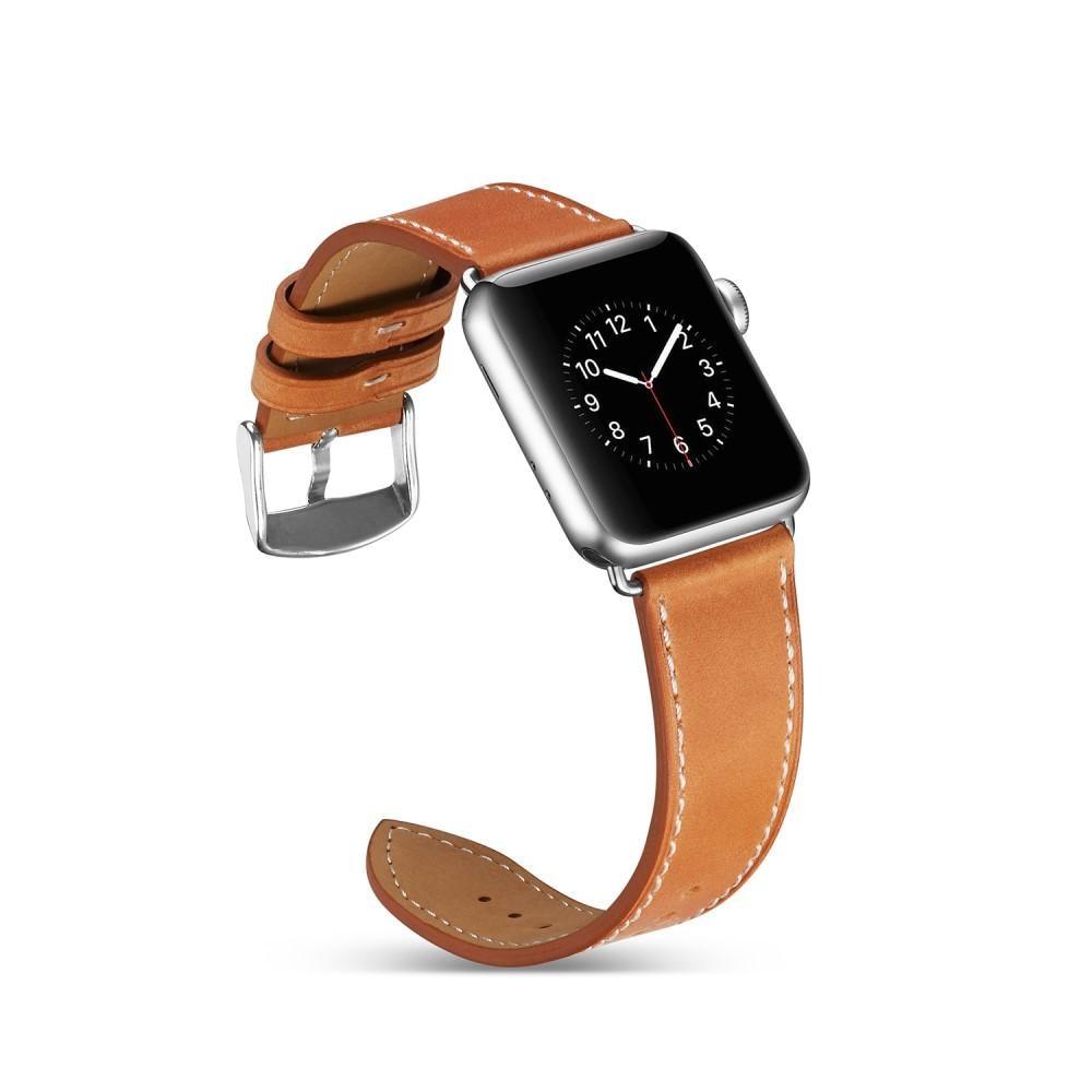 Läderarmband Apple Watch 38/40 mm cognac