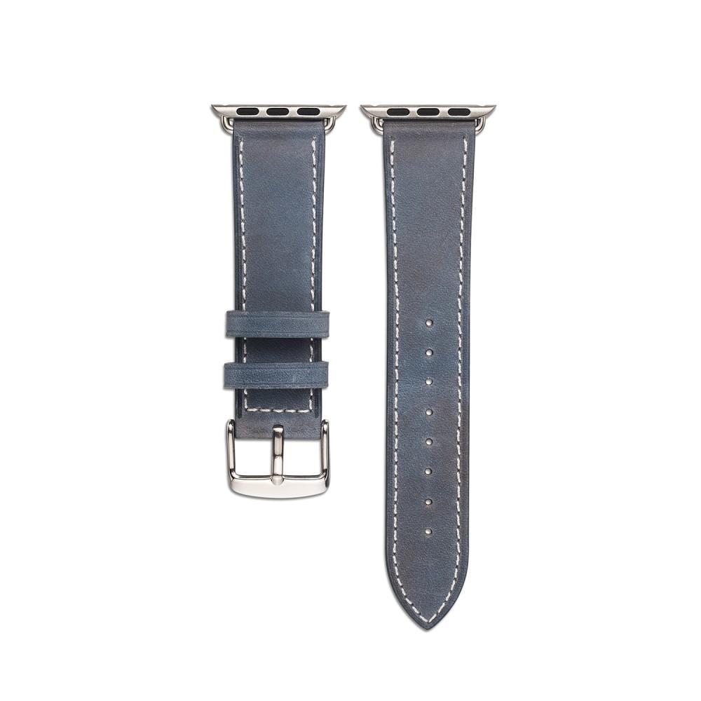 Läderarmband Apple Watch 42/44 mm blå