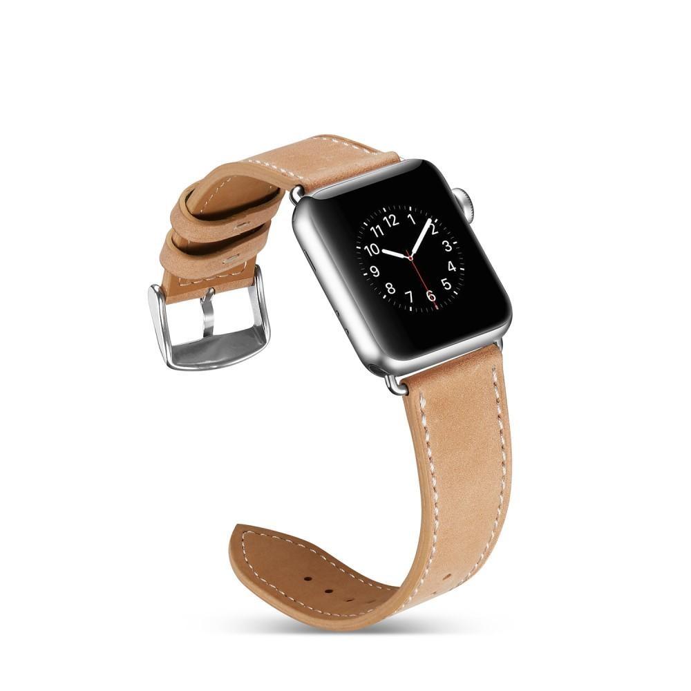 Läderarmband Apple Watch 42/44 mm khaki