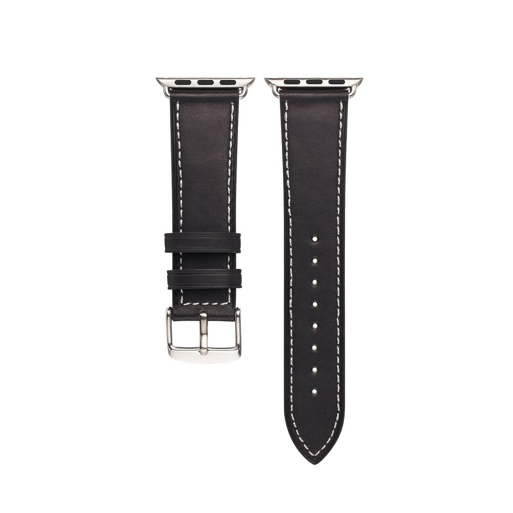 Läderarmband Apple Watch 42/44 mm svart