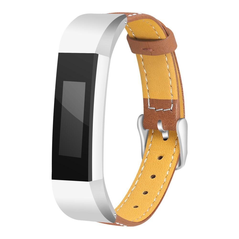 Läderarmband Fitbit Alta/Alta HR brun