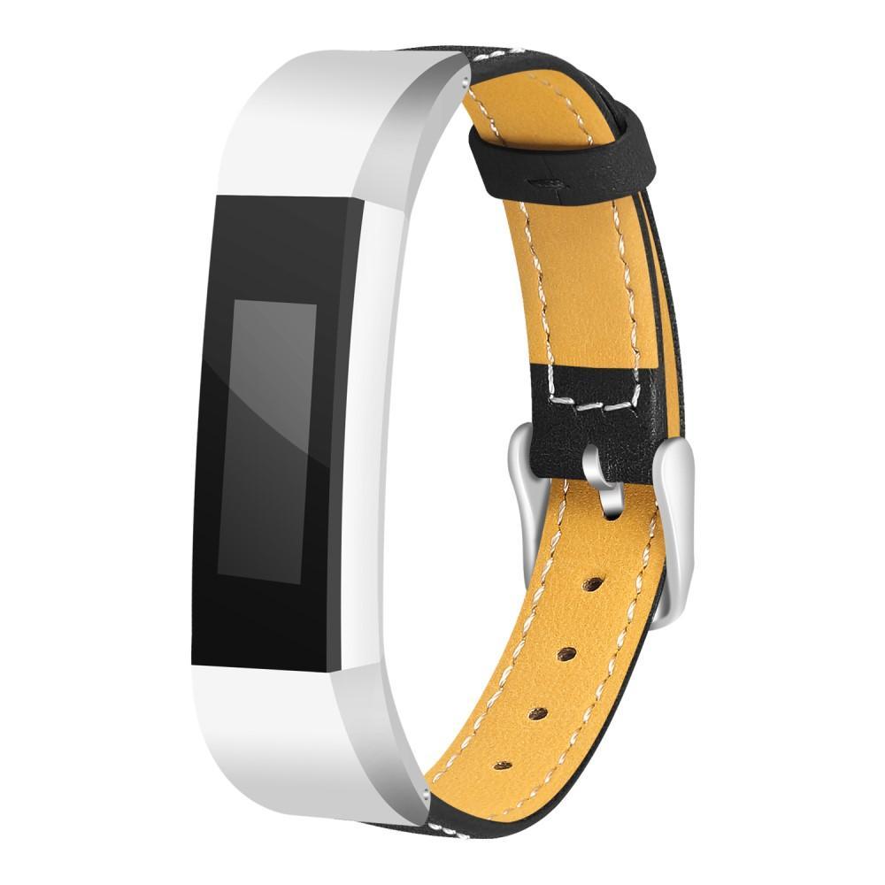 Läderarmband Fitbit Alta/Alta HR svart