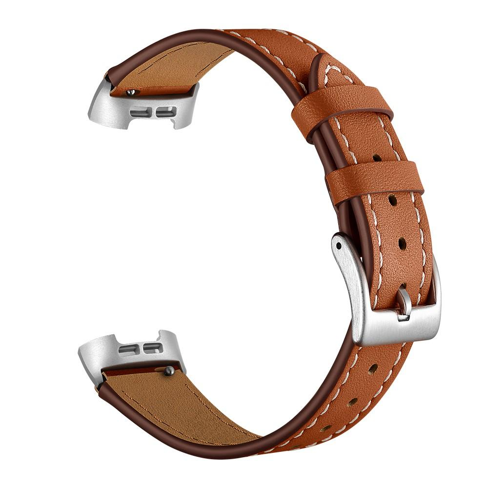 Läderarmband Fitbit Charge 3/4 brun
