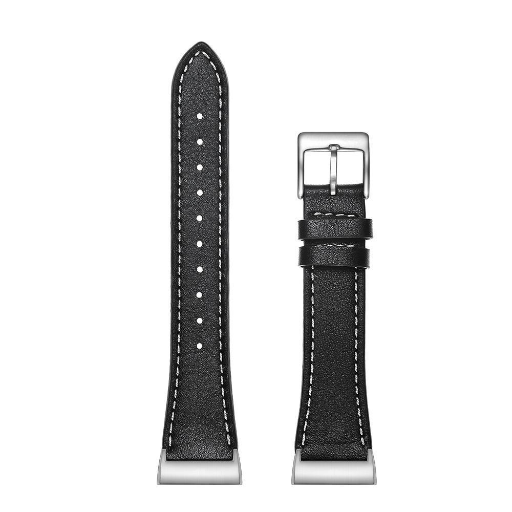 Läderarmband Fitbit Charge 3/4 svart