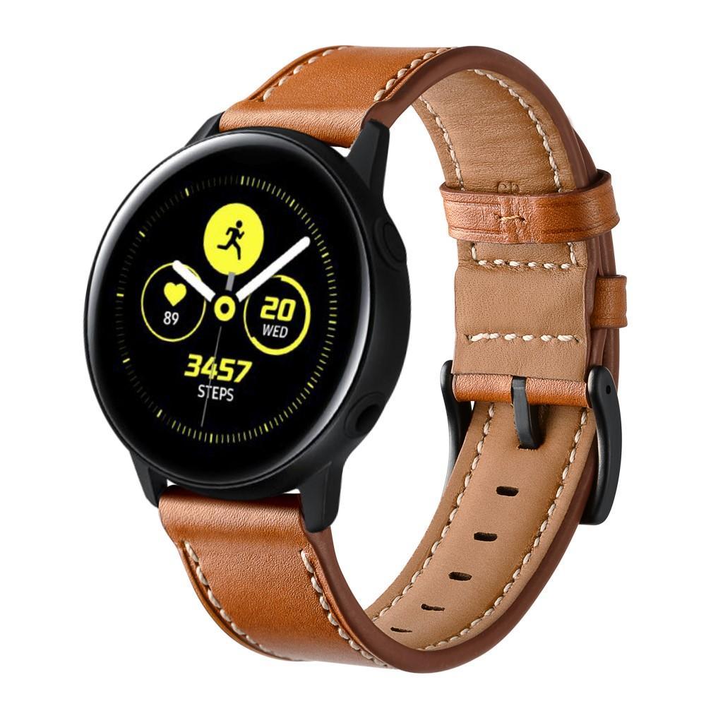 Läderarmband Galaxy Watch Active/42mm brun