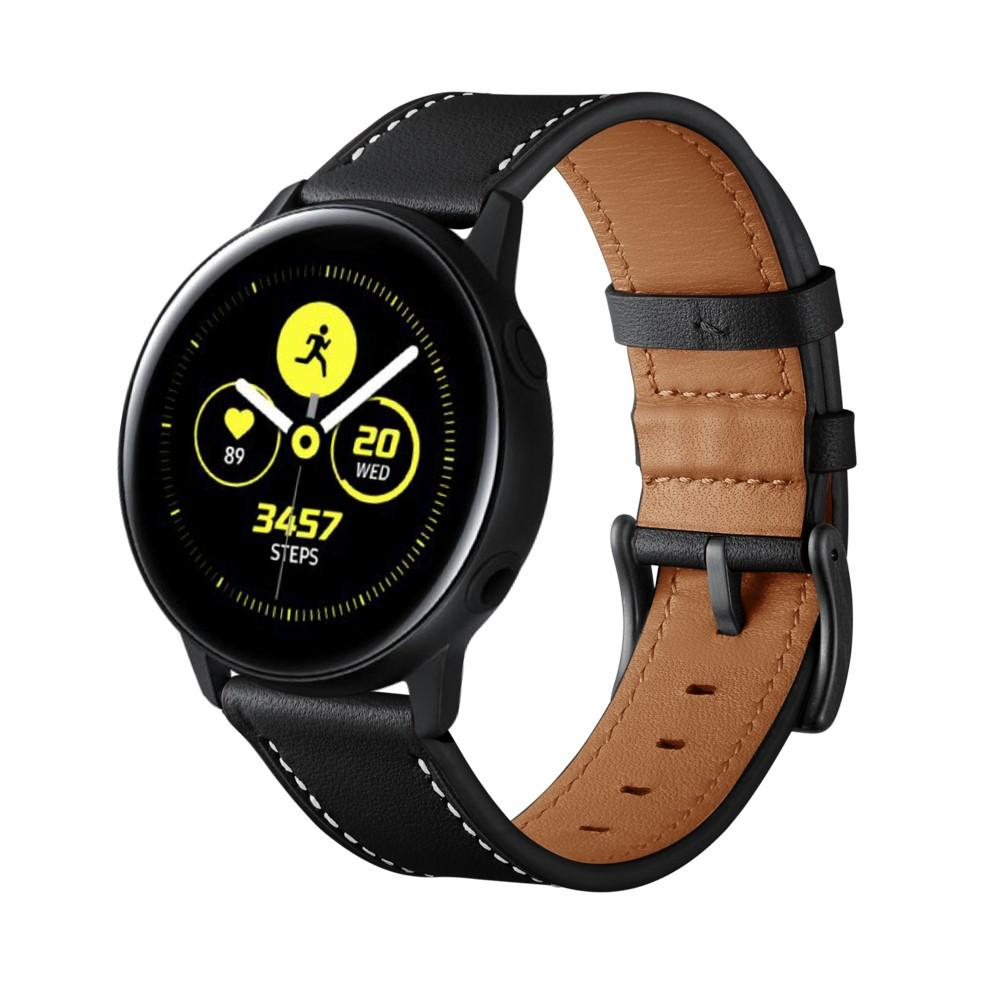 Läderarmband Galaxy Watch Active/42mm svart