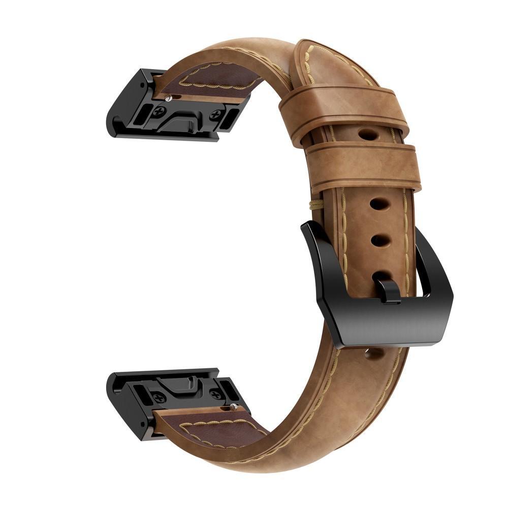 Läderarmband Garmin Fenix 5X/5X Plus/6X/6X Pro brun