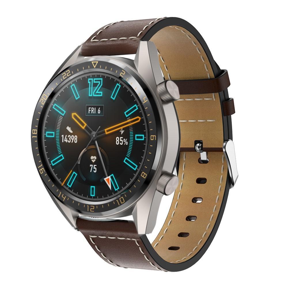 Läderarmband Huawei Watch GT/GT 2 46mm/GT 2e brun
