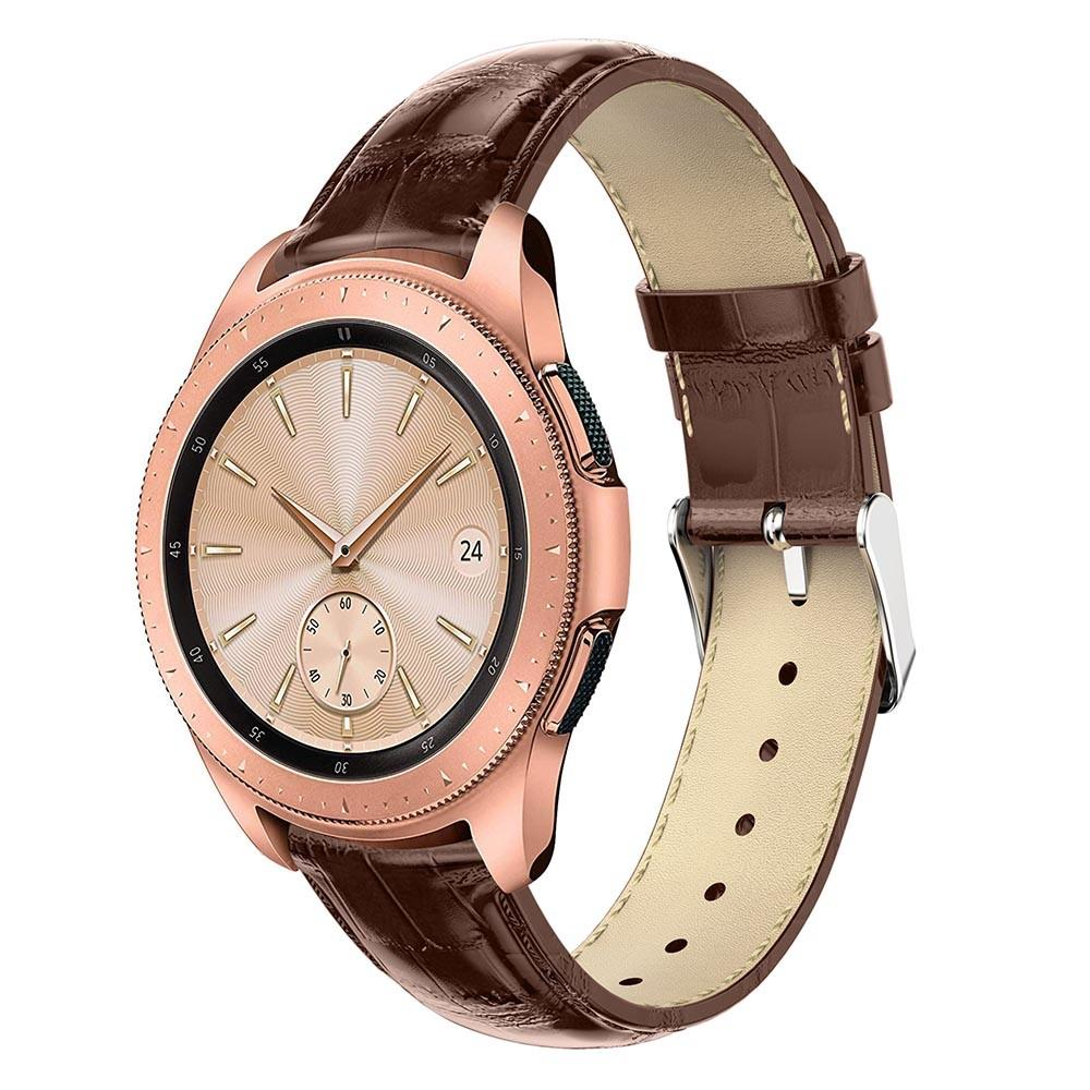 Läderarmband Krokodil Galaxy Watch 42mm brun