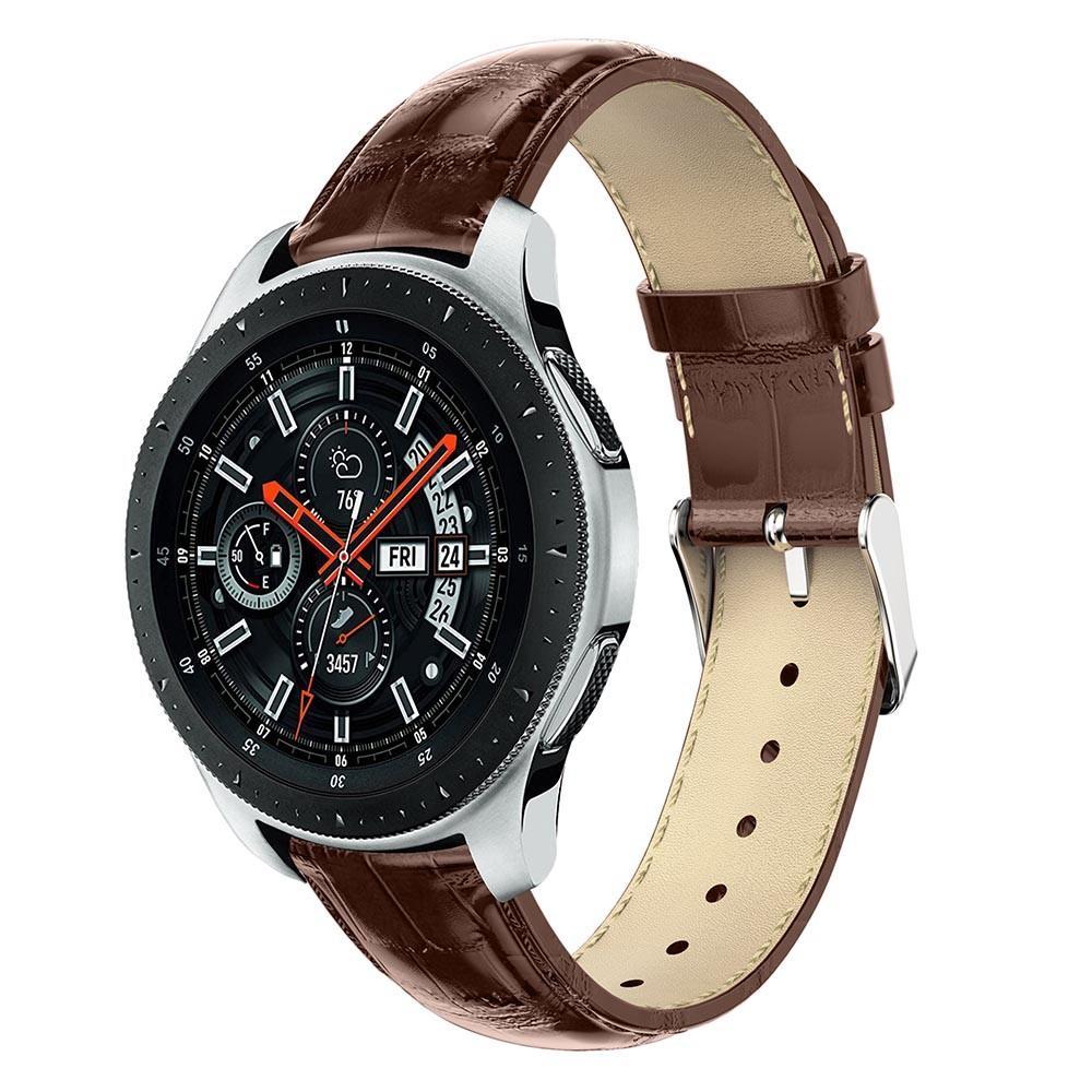 Läderarmband Krokodil Galaxy Watch 46mm brun