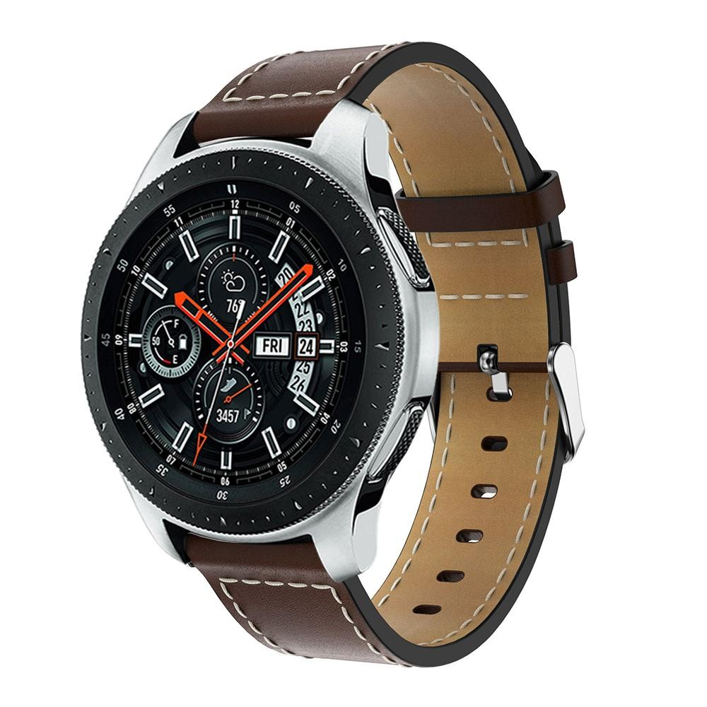 Läderarmband Samsung Galaxy Watch 46mm brun