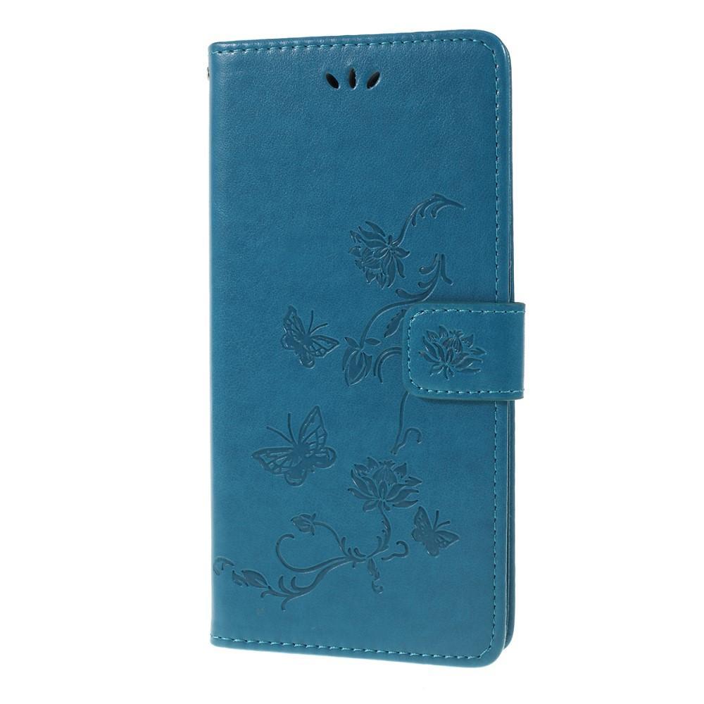 Läderfodral Fjärilar Huawei P Smart Z blå