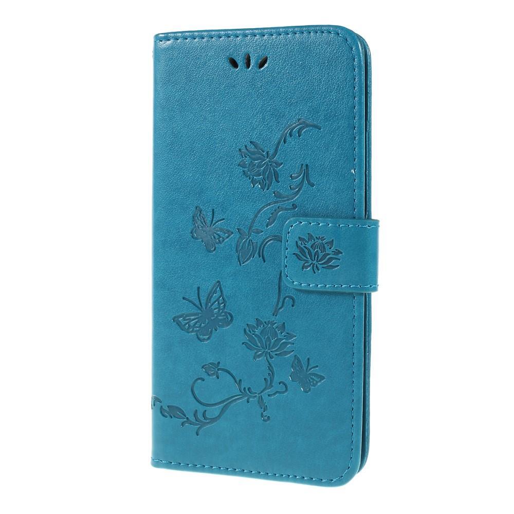 Läderfodral Fjärilar Samsung Galaxy A10 blå