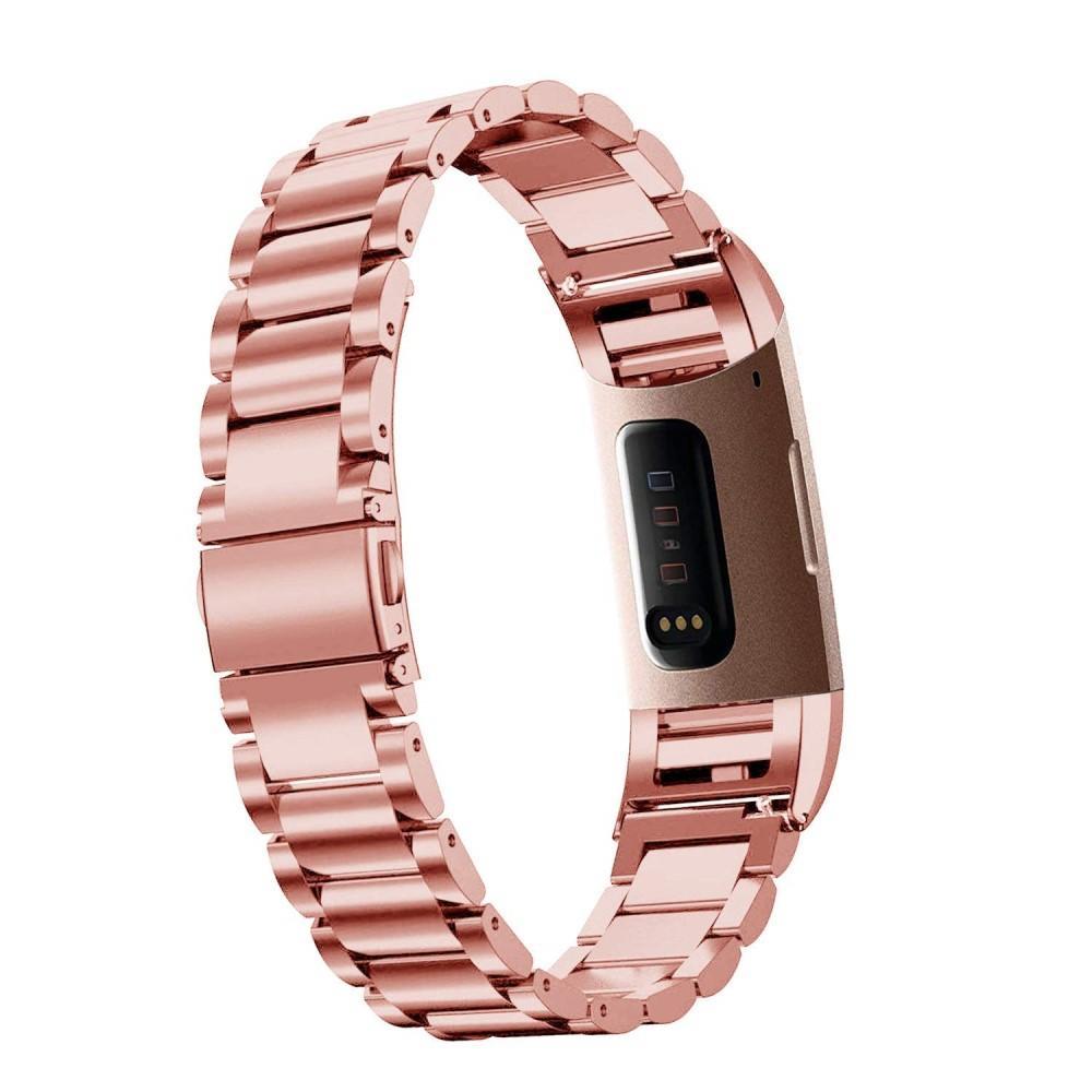 Metallarmband Fitbit Charge 3/4 roséguld