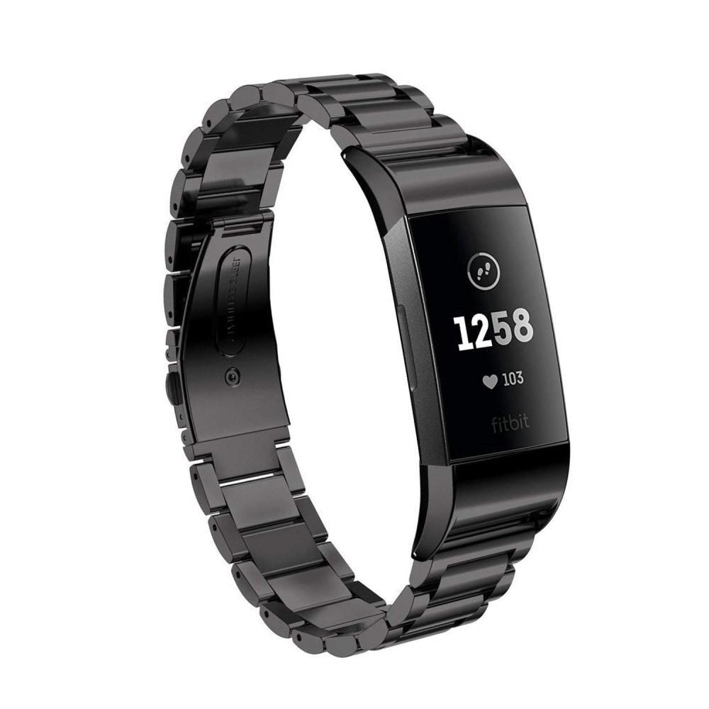 Metallarmband Fitbit Charge 3/4 svart