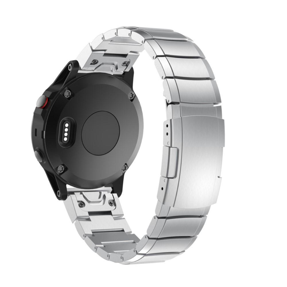 Länkarmband Garmin Fenix 3/3 HR/5X/5X Plus/6X/6X Pro silver