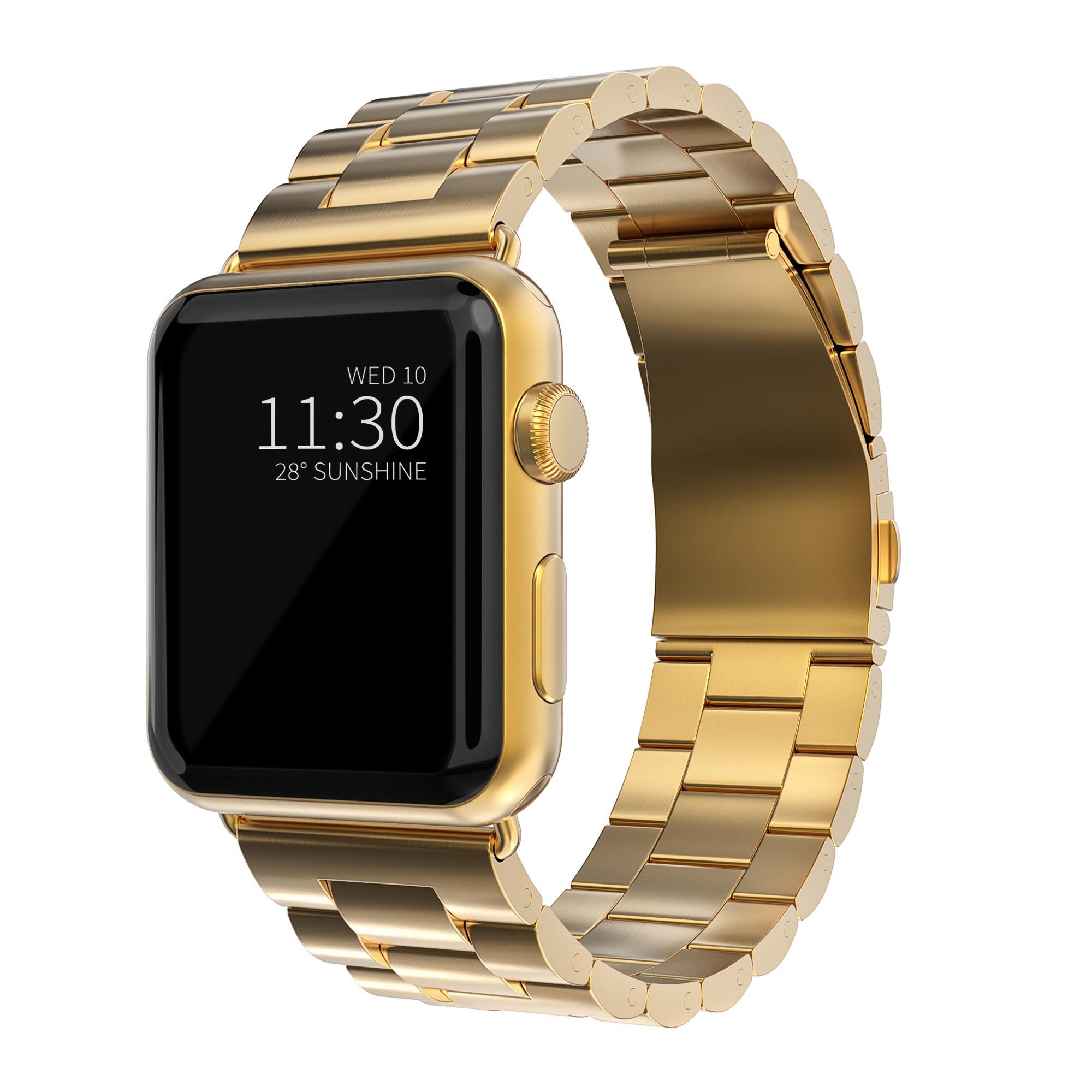Metallarmband Apple Watch 42/44 mm guld