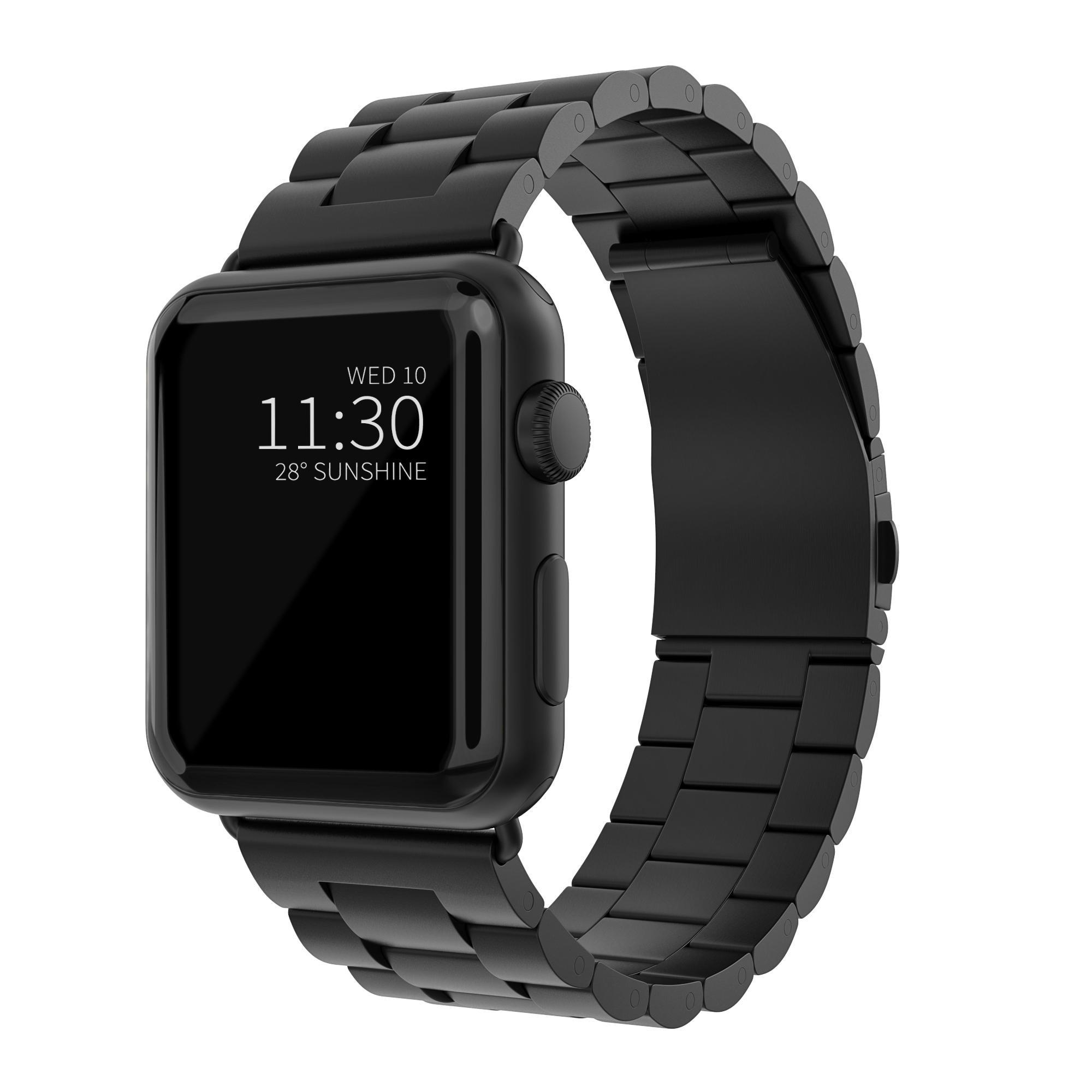 Metallarmband Apple Watch 42/44 mm svart
