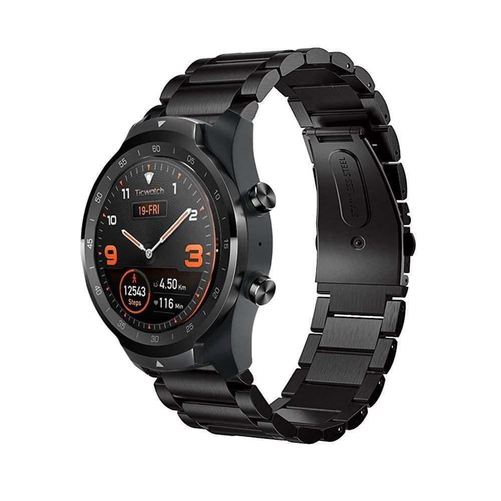 Metallarmband Mobvoi Ticwatch Pro/S2/E2 svart