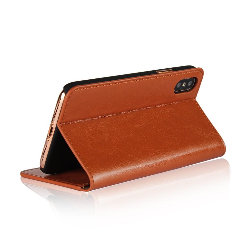 Mobilfodral Äkta Läder iPhone X/XS brun