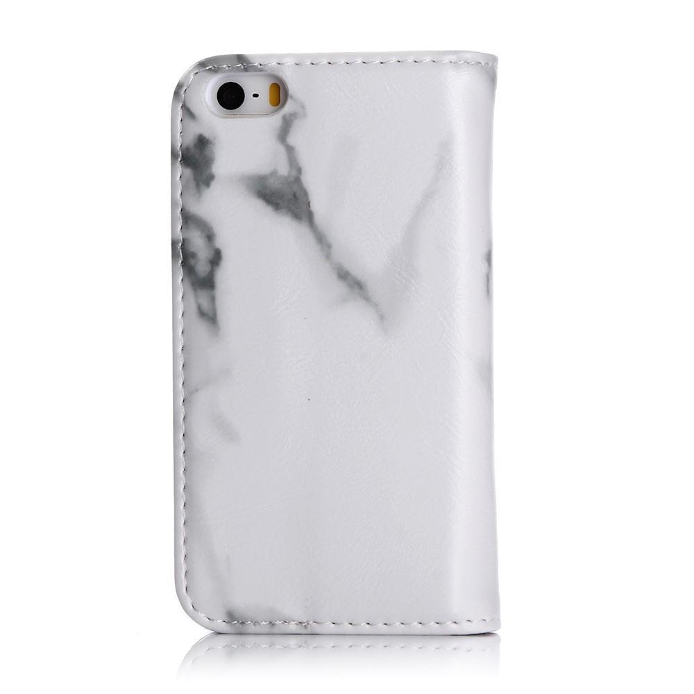 Mobilfodral iPhone SE/5S/5 Vit Marmor