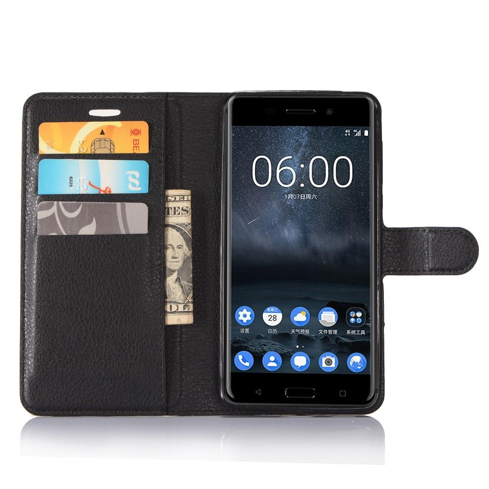 Mobilfodral Nokia 6 svart