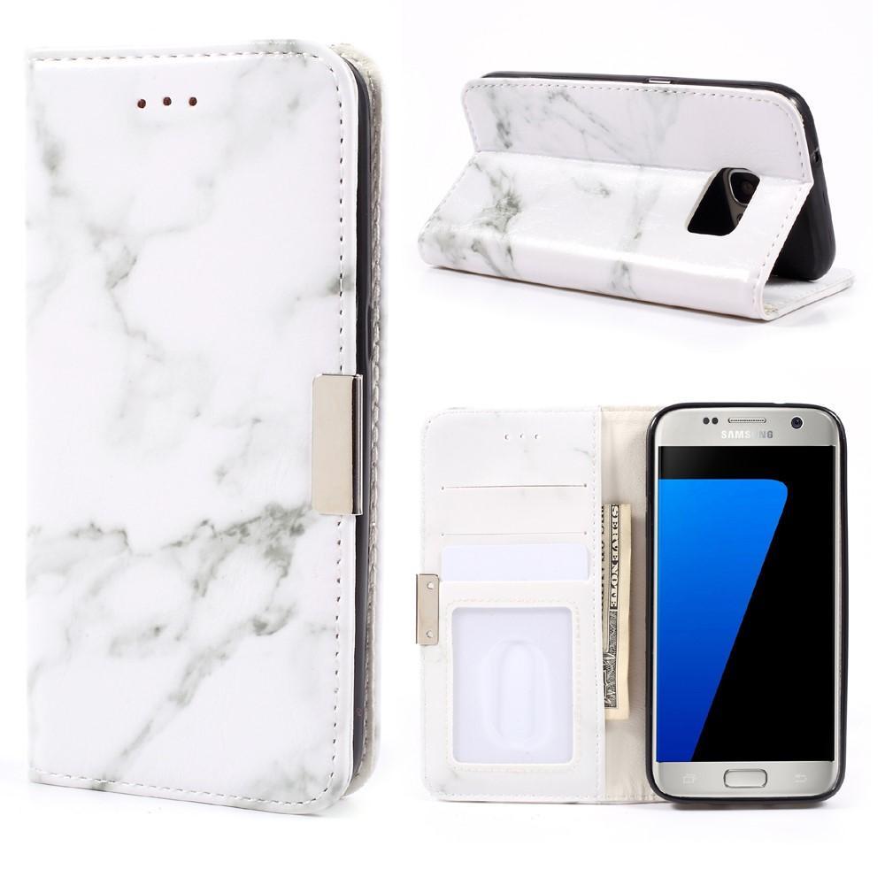 Mobilfodral Samsung Galaxy S7 Vit Marmor
