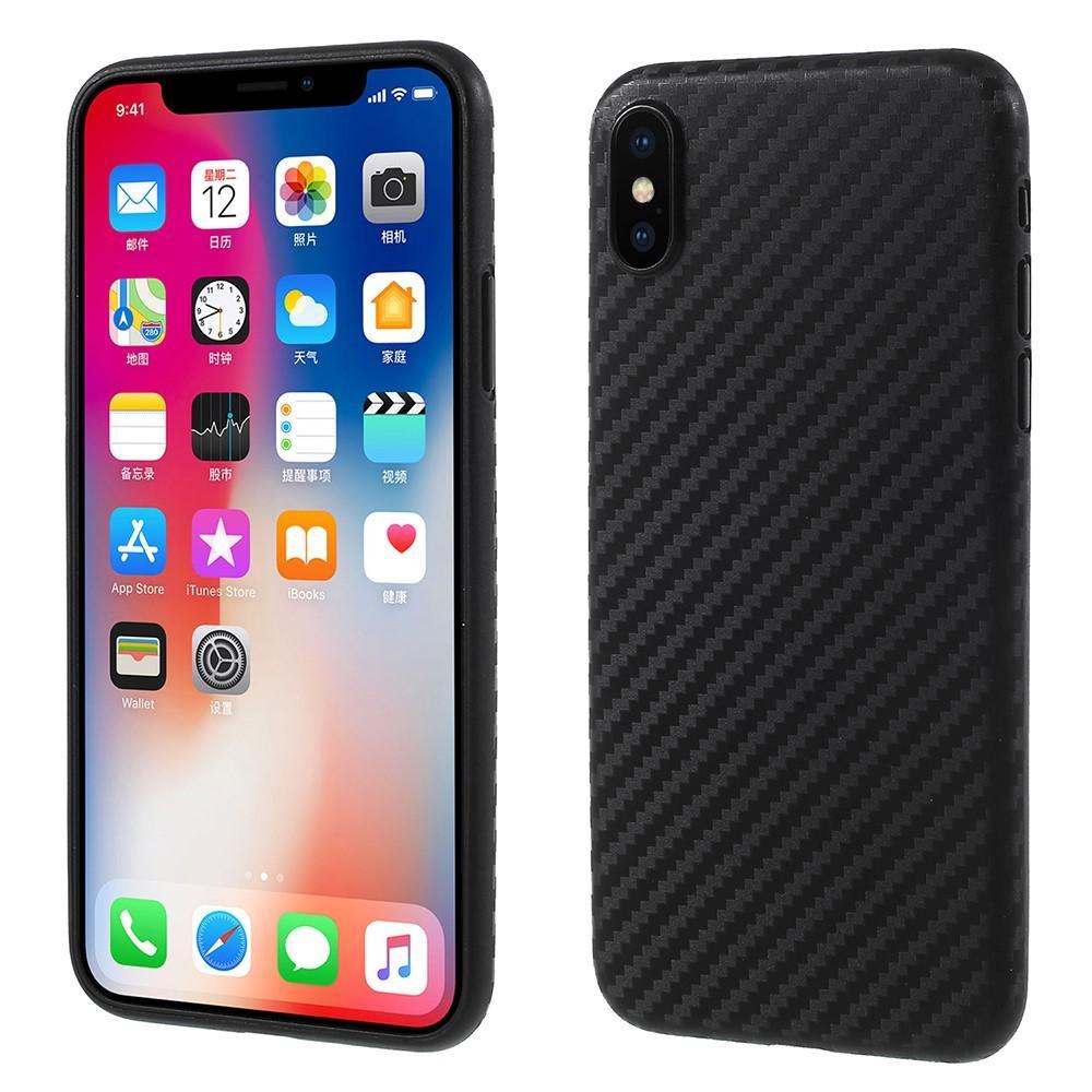 Mobilskal UltraThin Apple iPhone X/SE kolfiber