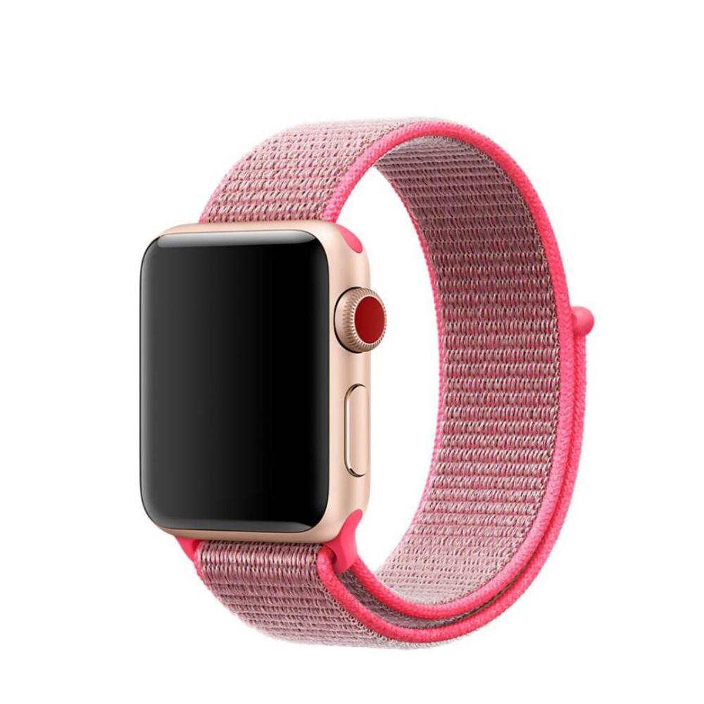 Nylonarmband Apple Watch 42/44 mm rosa