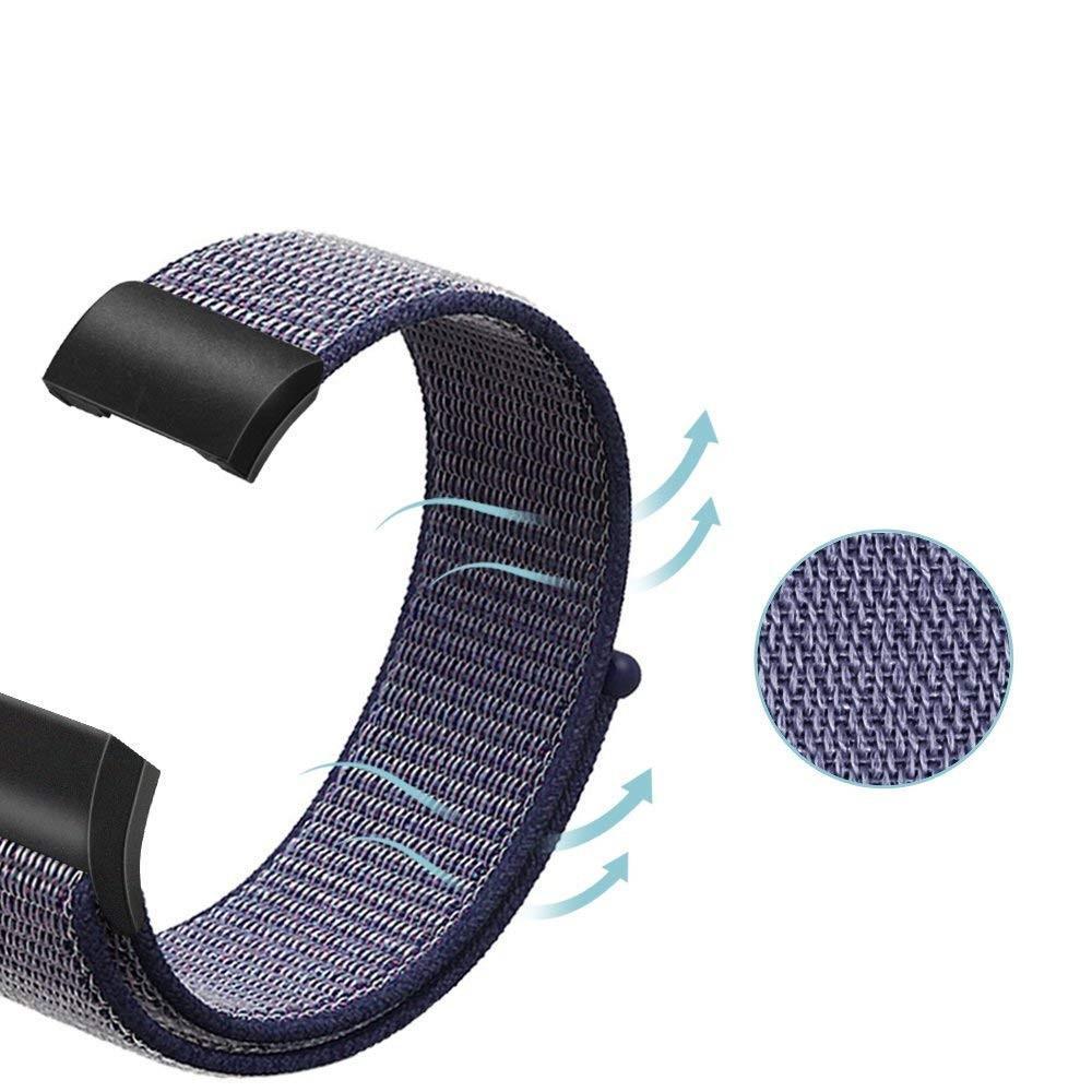Nylonarmband Fitbit Charge 3/4 blå
