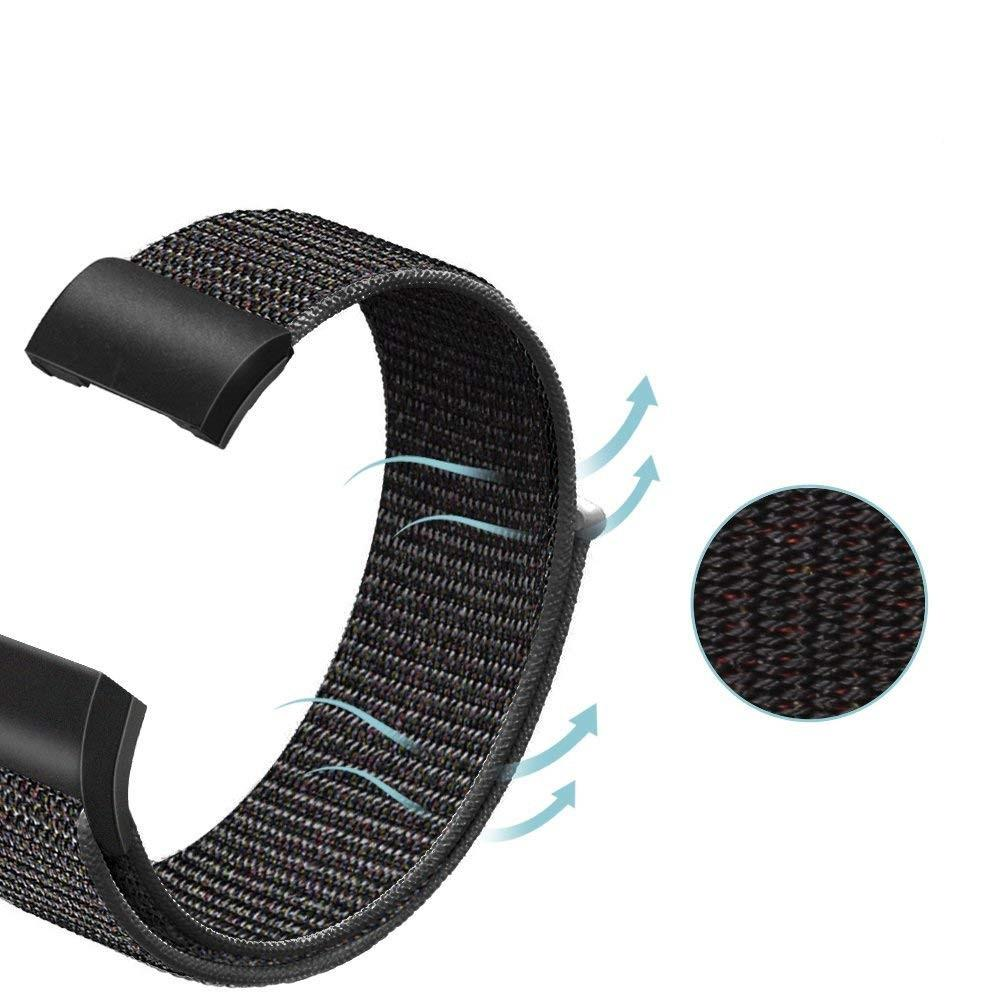 Nylonarmband Fitbit Charge 3/4 svart