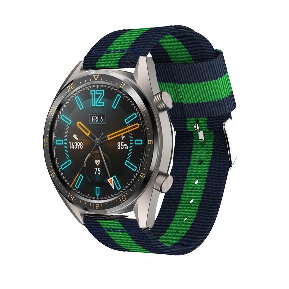 Nylonarmband Huawei Watch GT/GT 2 46mm/GT 2e blå/grön