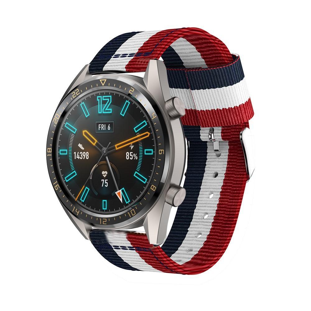 Nylonarmband Huawei Watch GT/GT 2 46mm/GT 2e blå/vit/röd