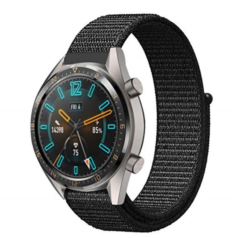 Nylonarmband Huawei Watch GT/GT 2 46mm/GT 2 Pro svart