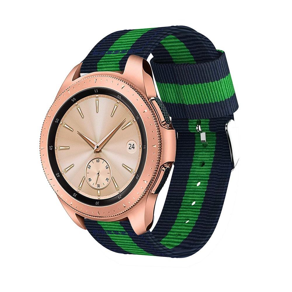 Nylonarmband Samsung Galaxy Watch 42mm blå/grön