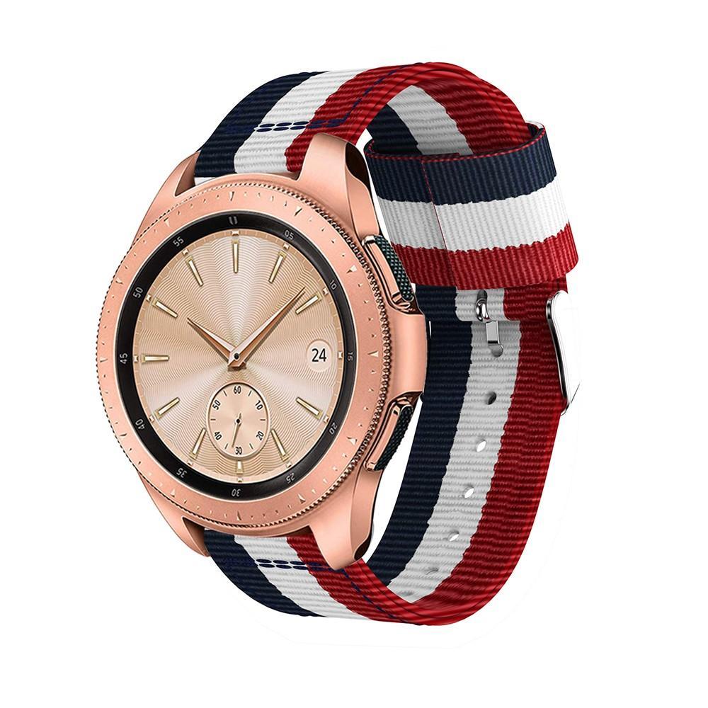 Nylonarmband Samsung Galaxy Watch 42mm blå/vit/röd