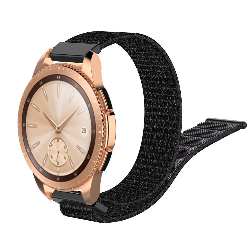 Nylonarmband Samsung Galaxy Watch 42mm/Active svart