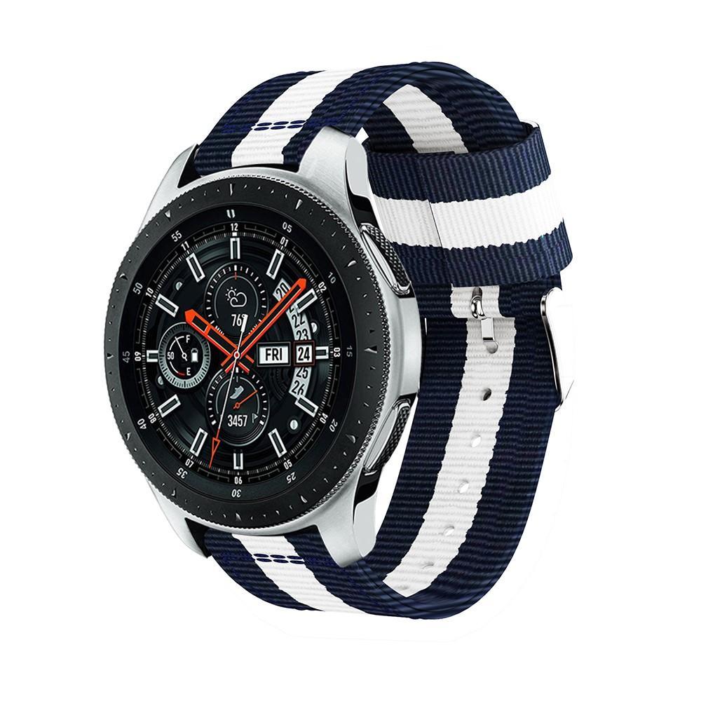 Nylonarmband Samsung Galaxy Watch 46mm blå/vit