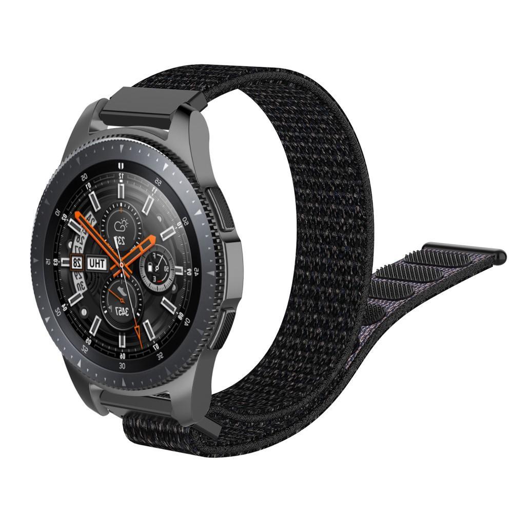 Nylonarmband Samsung Galaxy Watch 4 44mm/Classic 46mm svart
