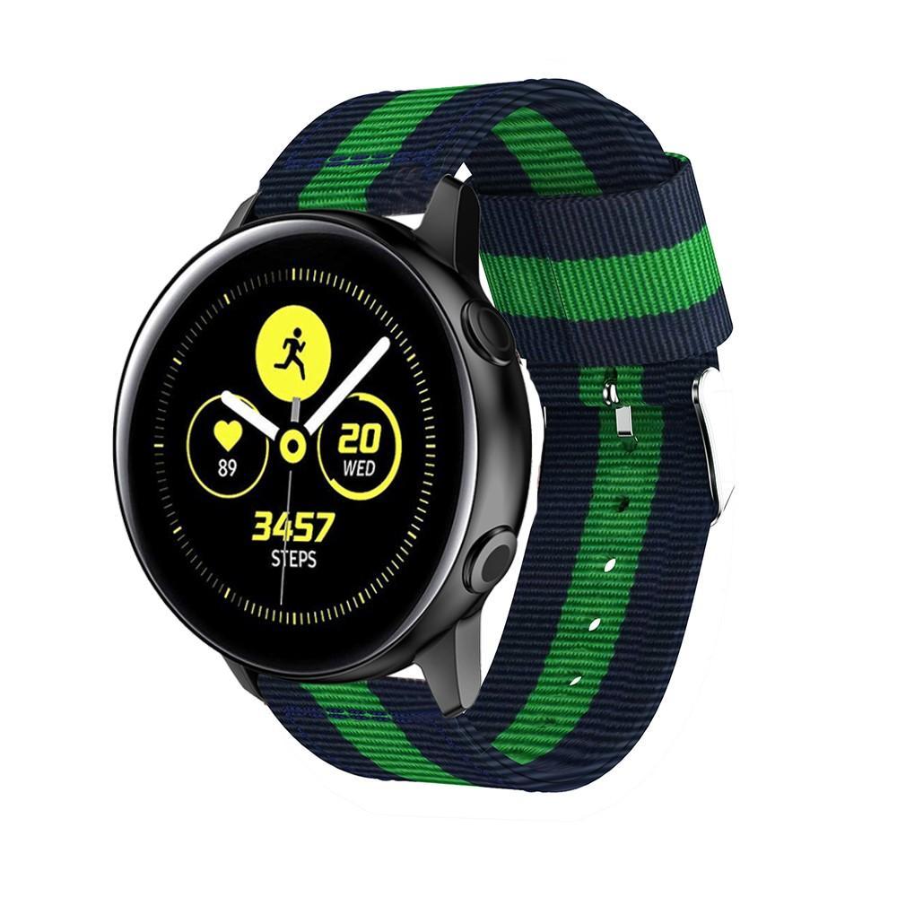 Nylonarmband Samsung Galaxy Watch Active blå/grön