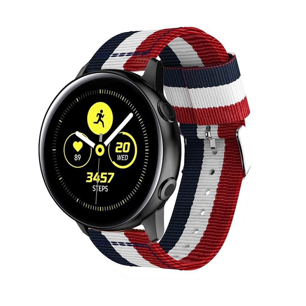 Nylonarmband Samsung Galaxy Watch Active blå/vit/röd