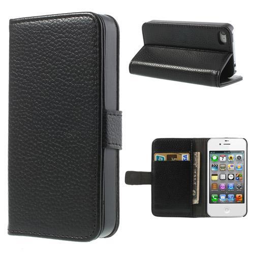 Plånboksfodral Apple iPhone 4/4S svart