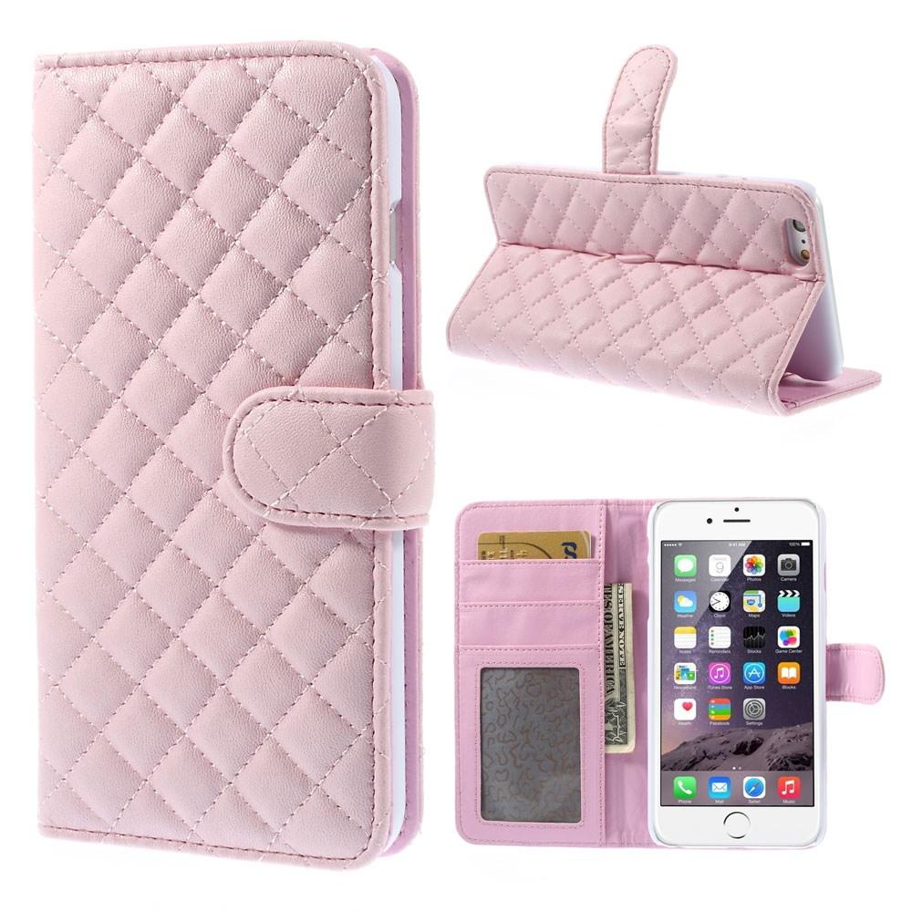Plånboksfodral Apple iPhone 6/6S Quilted rosa